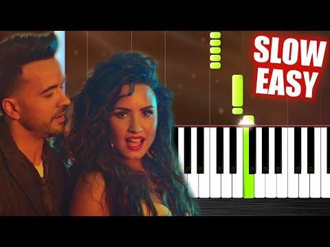 Luis Fonsi, Demi Lovato - Échame La Culpa - SLOW EASY Piano Tutorial by PlutaX