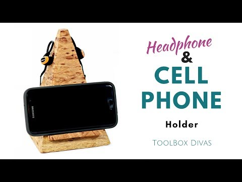 Cell phone and headphone Holder