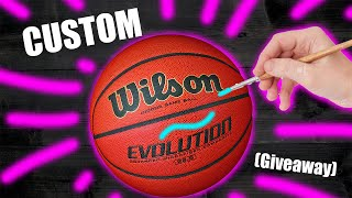 Custom BASKETBALL! (Giveaway) - Jordan Vincent