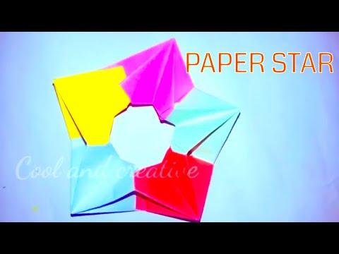 PAPER STAR !!HOW TO MAKE A MODULAR PAPER STAR |ORIGAMI  STAR