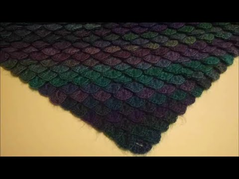 How to Crochet a Crocodile Scale Stitch on the Diagonal