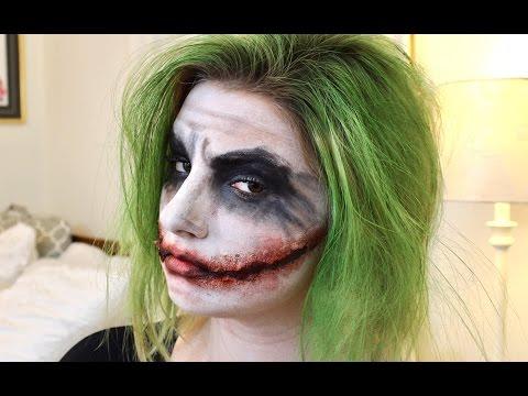 The Joker Halloween Hair and Makeup Tutorial 2016 ll The Dark Knight Version