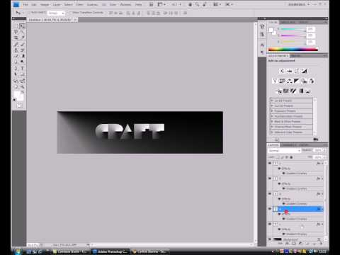Paper Craft text effect in Adobe Photoshop!!