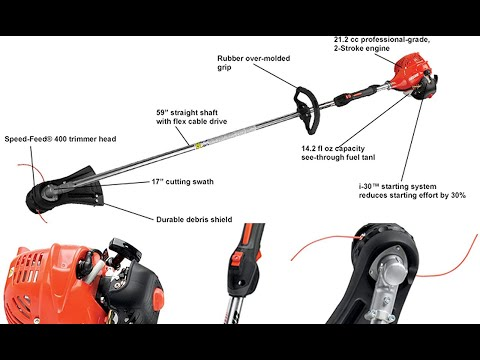 ECHO SRM 225 21cc Gas Best Grass Trimmer Unboxing & Review