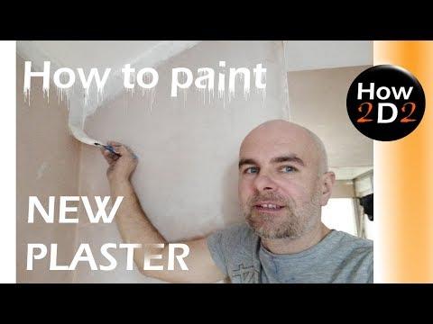 How to paint new plaster Base coat on new plaster