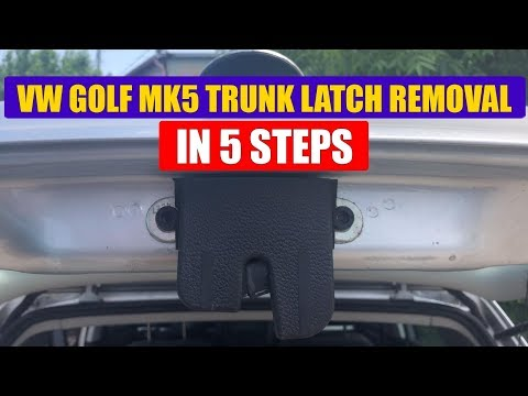 TUTORIAL: How to remove boot lock / trunk latch on VW Golf Mk4 in 5 steps