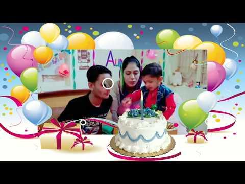 Happy birthday video with your photos