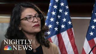 Rep. Rashida Tlaib Cancels West Bank Visit After Israel Backtracks On Ban | NBC Nightly News