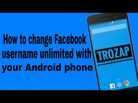 How To Change Your Facebook Username Unlimited Times Through Your Android Device