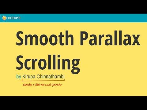 Smooth Parallax Scrolling (CSS + JavaScript)