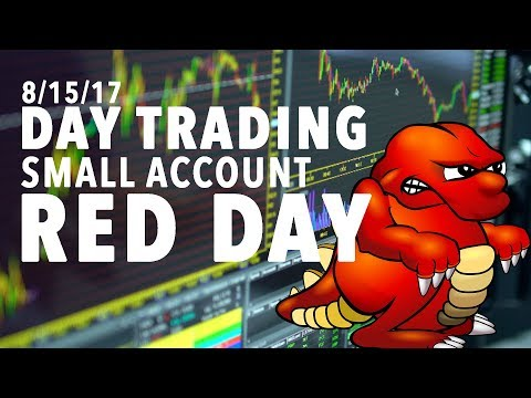 8/15/17 Day Trading Small Account OUCH A RED DAY!
