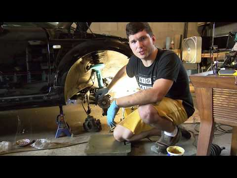 Replacing the front shocks on an Audi/VW