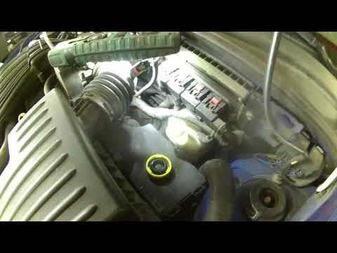 Front brake caliper rotor and pad replacement 2006 PT Cruiser.  Install, remove or replace