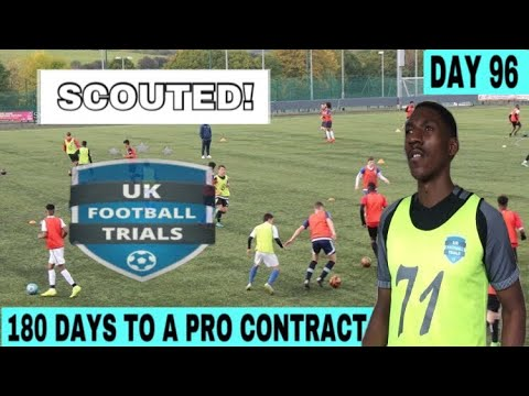 MY UK FOOTBALL TRIALS MATCH HIGHLIGHTS (SCOUTED) | DAY 96