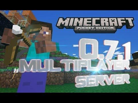Minecraft PE 0.7.1 Multiplayer Server !