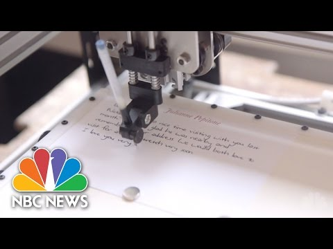Note-Writing Robots Pen Letters In Your Handwriting | NBC News