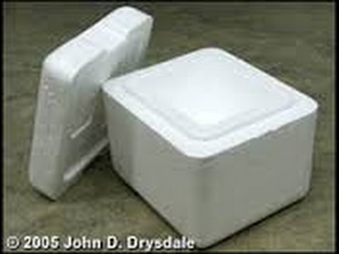 HOW TO MAKE A COOLER BOX OUT OF STYROFOAM