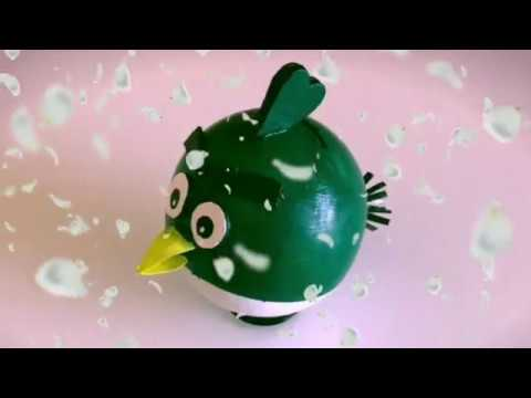 Angry Bird Piggy Bank Out Of Waste Plastic Ball / How To Make Cute Piggy Bank At Home   Priti Sharma