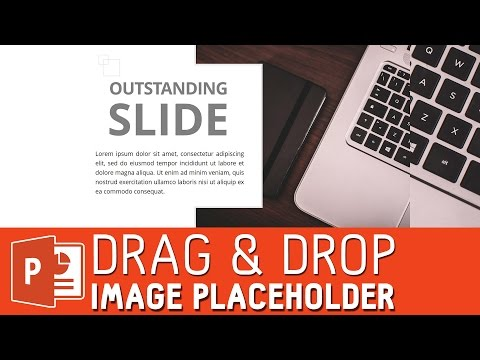 Drag and drop image placeholder powerpoint tutorial | powerpoint slide template