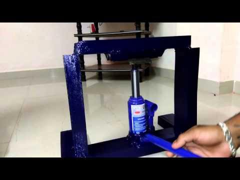 Hydraulic jack operated bending machine by Hasan Jahagirdar