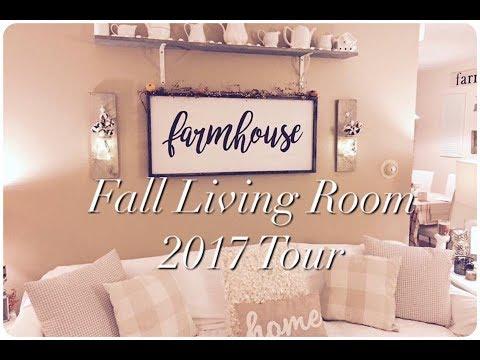 Fall Living Room Tour | 2017
