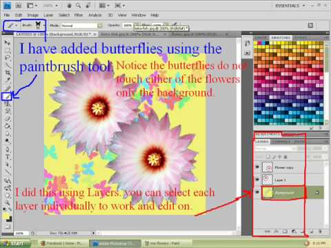 Using Layers with Adobe Photoshop CS4