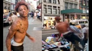 Boonk LOSES HIS MIND and Destroyed Vendors Table In Downtown NYC!