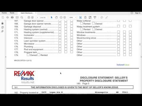 How to fill out a real estate Seller's Property Disclosure Statement