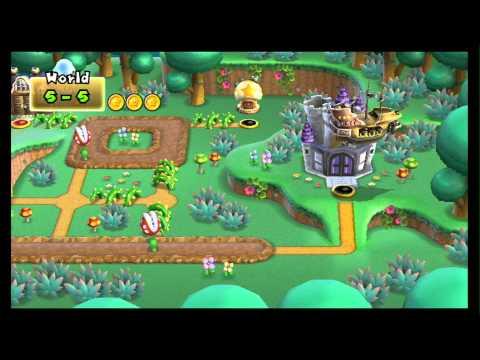 New Super Mario Bros. Wii 100% Walkthrough Part 10 - World 5 (5-3, 5-4, 5-5, 5-G, 5-C) Star Coins