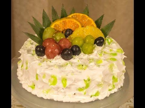 Eggless Tropical Fruit  Gateau - Fresh Cream  Dessert Cake