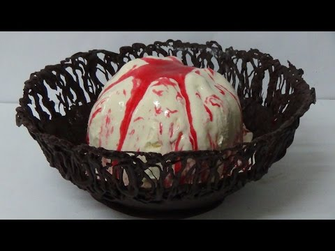 how to make giant super sized chocolate ice-cream bowl