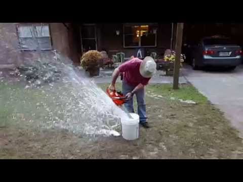 Cleaning a chainsaw....the redneck way