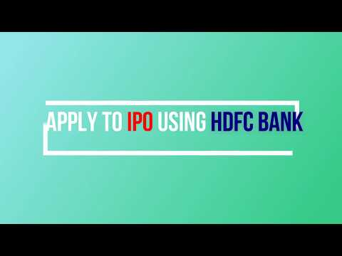 APPLY TO ANY IPO using HDFC BANK ASBA