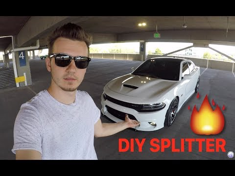 How to make an aggressive front splitter (Dodge Charger / Challenger, SRT, Scatpack, Hellcat)