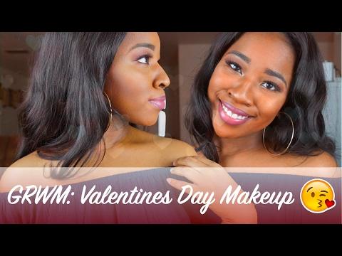 GRWM   GLAM Valentines Day MAKEUP