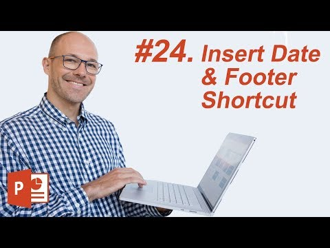 #24: Insert Date and Footer Shortcut (Microsoft PowerPoint Shortcuts)
