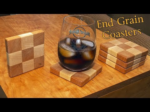 End Grain Tic Tac Toe Coasters
