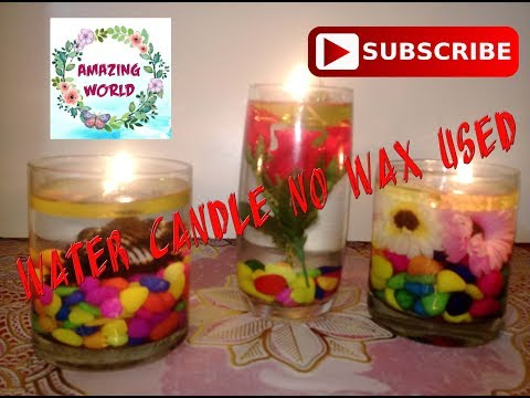How to make water candle (No WAX USED)