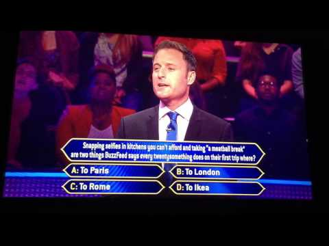 First question wrong on who wants to be a millionaire