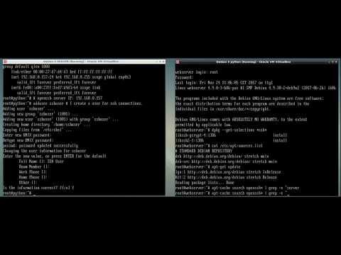 OpenSSH server installation and configuration