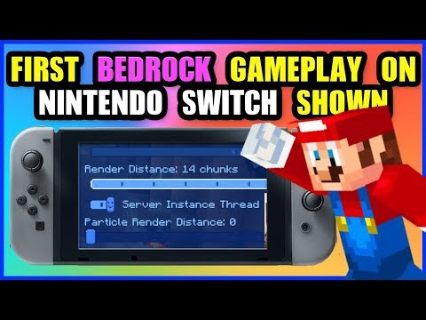 """FIRST GAMEPLAY - Minecraft Bedrock Update - Nintendo Switch """"Better together"""" & New Features"""