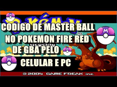 COMO FAZER CODIGO DE MASTERBALL NO POKEMON FIRE RED PELO CELULAR NO MYBOY
