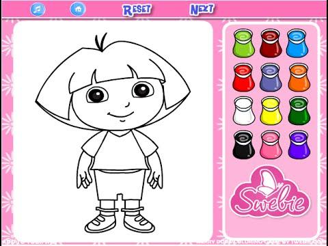 Dora The Explorer Coloring Game Play