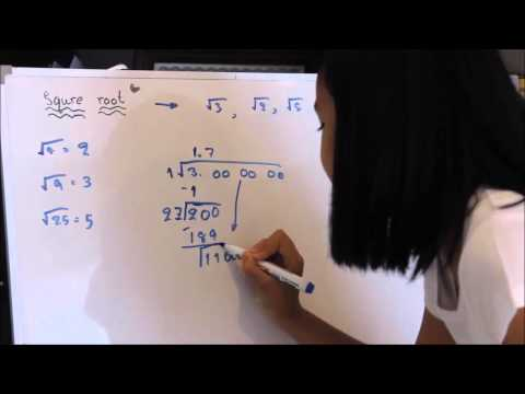 How to calculate a square root by hand