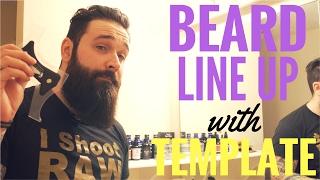 Easy beard line up tutorial   Beard template guide review