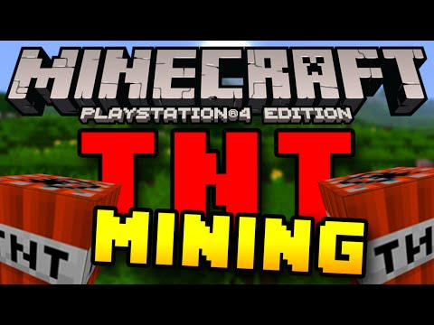 Minecraft PS4 & XBOX One - TNT Mining (Mining Trick to Get Resources FASTER!)
