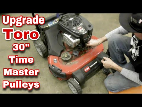 How To Replace Idler Pulleys On A Toro 30'' Time Master Mower (Upgraded Pulley) with Taryl