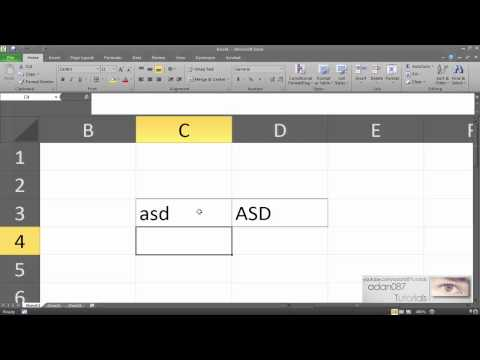 Excel convert text to uppercase