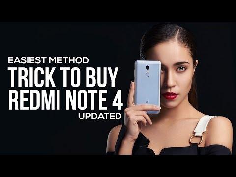 [EASIEST METHOD] Trick To Buy Redmi Note 4 From Mi.com & Flipkart Flash Sale