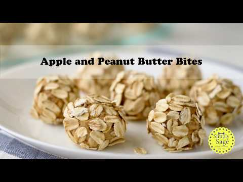 DIY No Bake Apple and Peanut Butter Bites Dog Treats